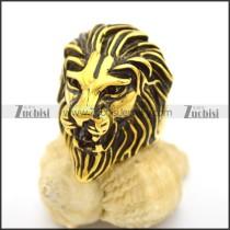 Antique Gold Lion Ring r002721