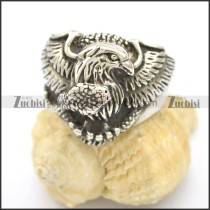 Eagle Grasped Snake Ring r002516