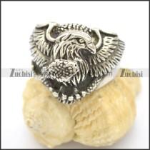 Eagle Grasped Snake Ring r002516