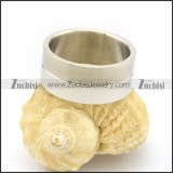 Silver Thumb Rings for Men in Stainless Steel r002640