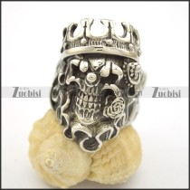 Rose Skull King Ring r002523