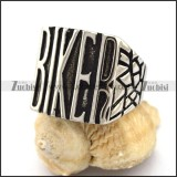 Stainless Steel Cast BIKER Ring for Riders r002957