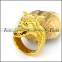 Gold Plating Wolf Ring r002999