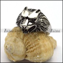 Small Stainless Steel Casting Wolf Ring r002805