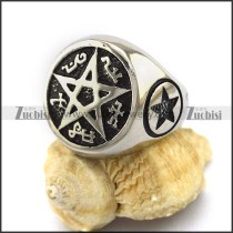 Stainless Steel Corrosion Star Ring r003040
