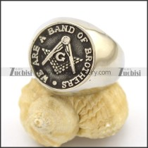 WE ARE A BAND OF BROTHERS Free Mason Ring r002746