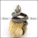 Stainless Steel Snake Ring for Unisex r003043