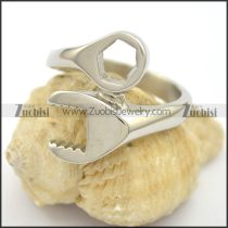 Silver Stainless Steel Wrench Ring for Bikers r002780