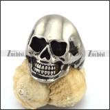 Matte Medium Size Stainless Steel Skull Ring r002947