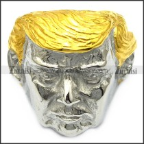 handsome US President Donald Trump ring with golden hair r005788