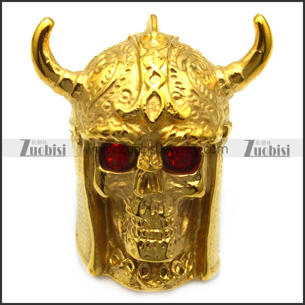 golden skull wedding ring