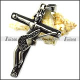 jh rocker black rhinestons guitar cross pendant for french rock fans p008224