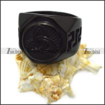 black stainless steel viking ring for wholesale r005965