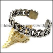 stainless steel cuff bangle for men b008019