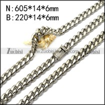 stainless steel hip hop jewelry set s002724