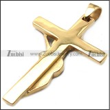 rose gold plated johnny hallyday guitar cross pendant with red rhinestones p008528