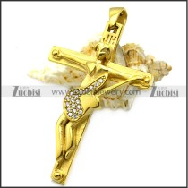 gold plated johnny hallyday cross for french rock fans p008525