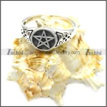 sterling silver casting pentagram ring r006082