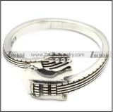 sterling silver guiter ring for rock fan r006085