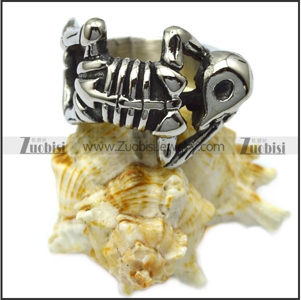 Stainless Steel Skeleton Skull Ring