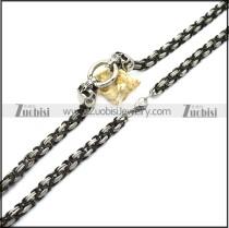 stainless steel skull chain for matching big skull pendants n002331