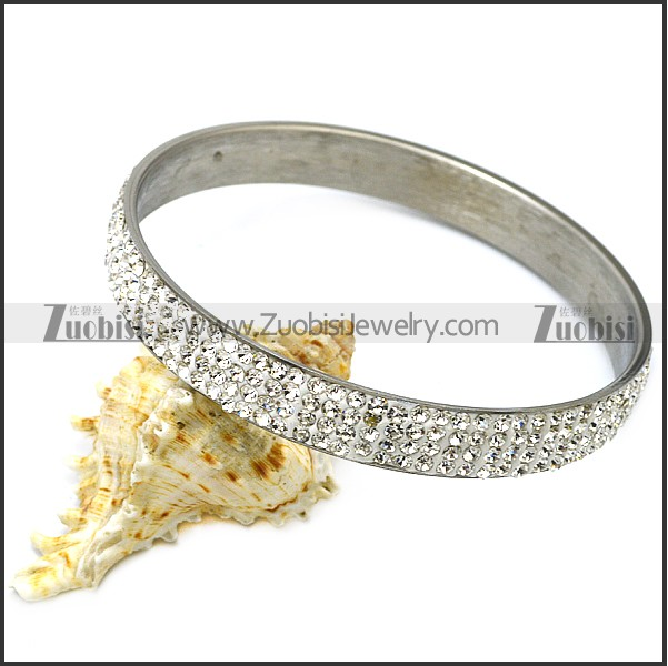 Clear Rhinestones Bangle for Women