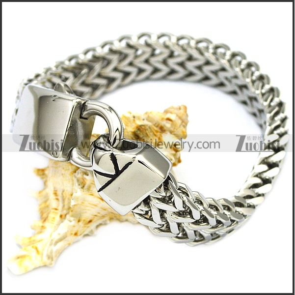 12mm wide stainless steel bracelet