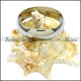 Shiny Stainless Steel Plain Band Ring r007004