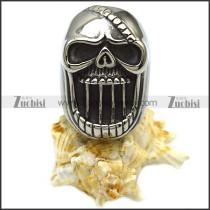 Gothic Biker Skull Rings in Stainless Steel as Beer Bottle Opener for Men r006872
