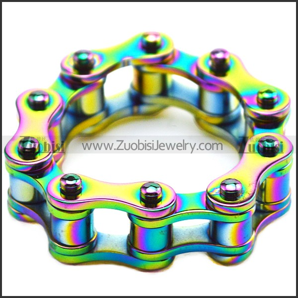 Colorful Stainless Steel Bike Chain Ring for Unisex