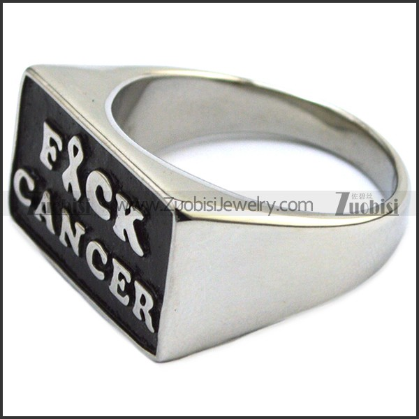 Stainless Steel Fuck Cancer Ring