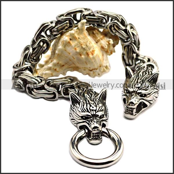 Casting Wolf Bracelet for Men