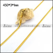Gold Plated Stainless Steel Snake Chain n001196