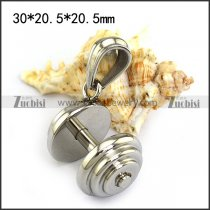 High Polishing Stainless Steel Dumbbell Pendant for Gym Rat p004457