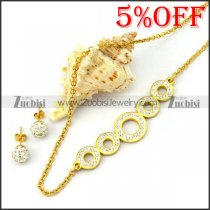 Gold Plating Necklace Set for Ladies s001925