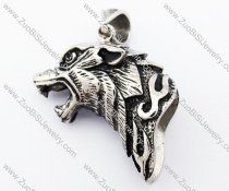 Stainless Steel Wolf Pendant - JP420040