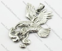 Stainless Steel Snake War Eagle Pendant -JP140092