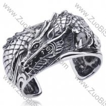 Powerful Dragon Stainless Steel Bangles - JB350010