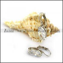 Big Clear Zircon Earring e001291