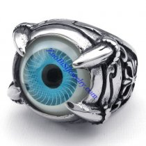 clear sky blue evil eye ring JR350268