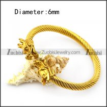 Gold Plated Dragon Wire Bangle b005835