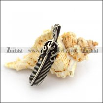 Casting Steel Feather Charm p003978