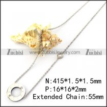 LOVE Rhinestone Charm Necklace n001656