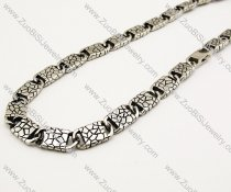 Rugose Stainless Steel Necklace 21 inch -JN170015