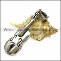 Cute Stainless Steel Violin Pendant p007175