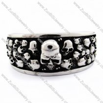 Solid Skull Bangle for mens -JB170096
