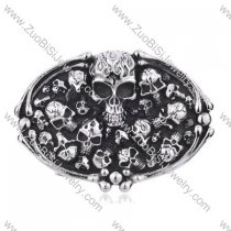 Titanium Multi Skull Heads Belt Buckle For Motorcycle Bikers -JZ350001
