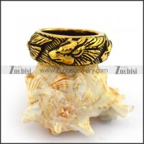 Vintage Gold Design Casting Wolf Ring r003701