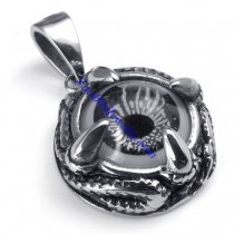 Gray Eye Jewelry in Shaped of Dragon Claw Pendant in Stainless Steel -JP450003