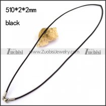 Black Leather Cord Necklace n001182